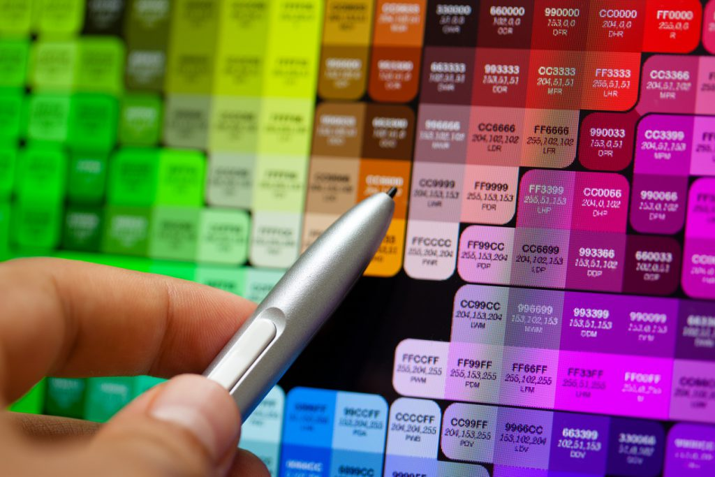 Graphic Artist Picking a Color
