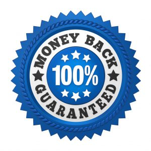 Money Back Guaranteed Label Isolated