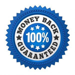 Money Back Guaranteed Label Isolated