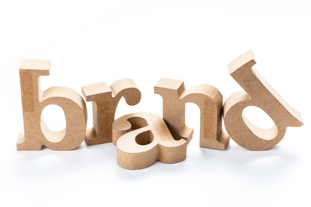 Brand wood word