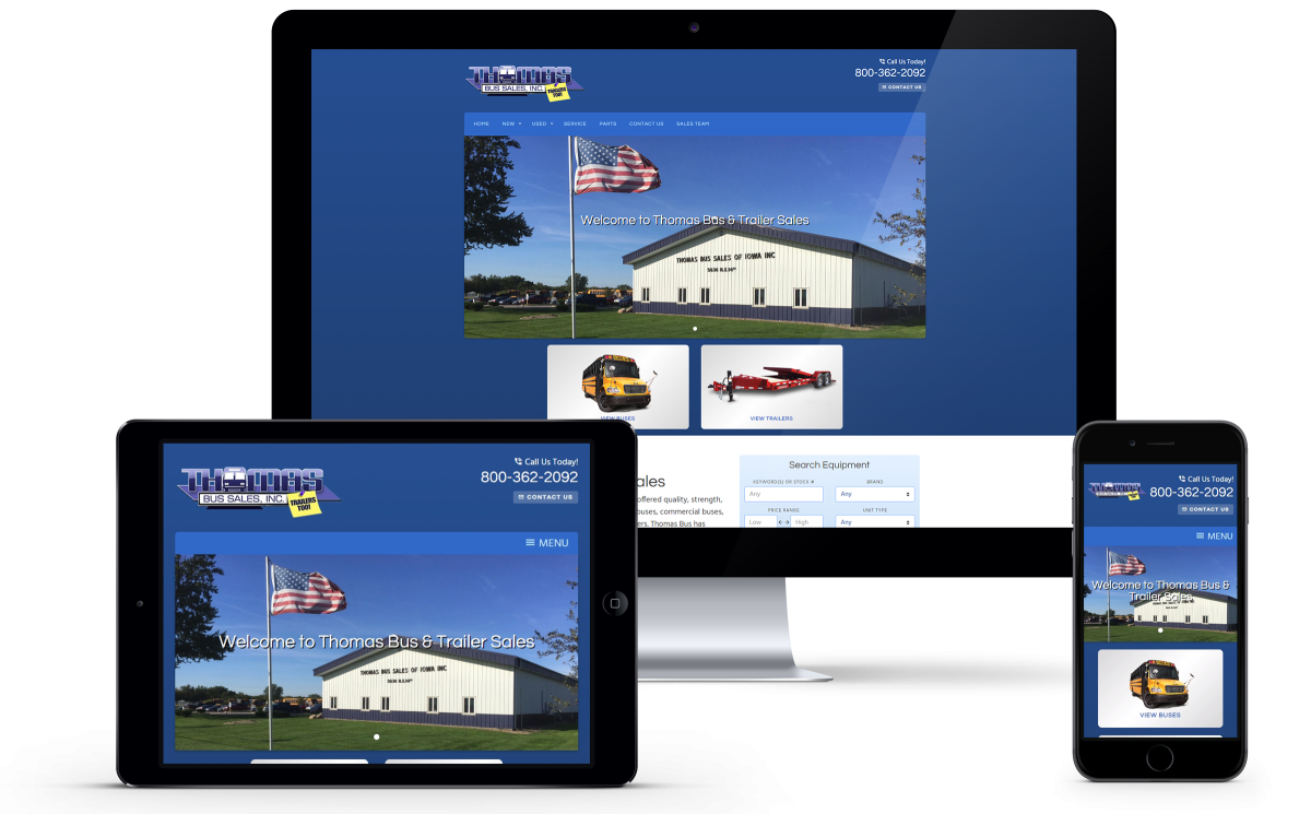 Thomas Bus & Trailer Sales Launches Redesigned Website