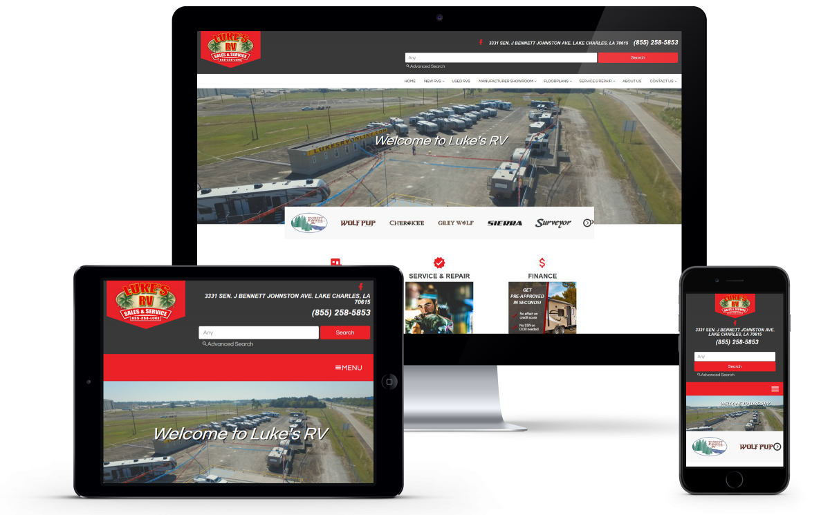 Luke's RV Website Gets a User-Friendly Face-Lift