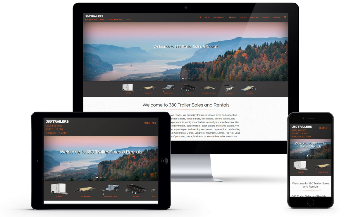 Website Launch: 380 Trailers