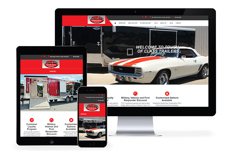 Touch of Class Trailer Sales Launches New Website