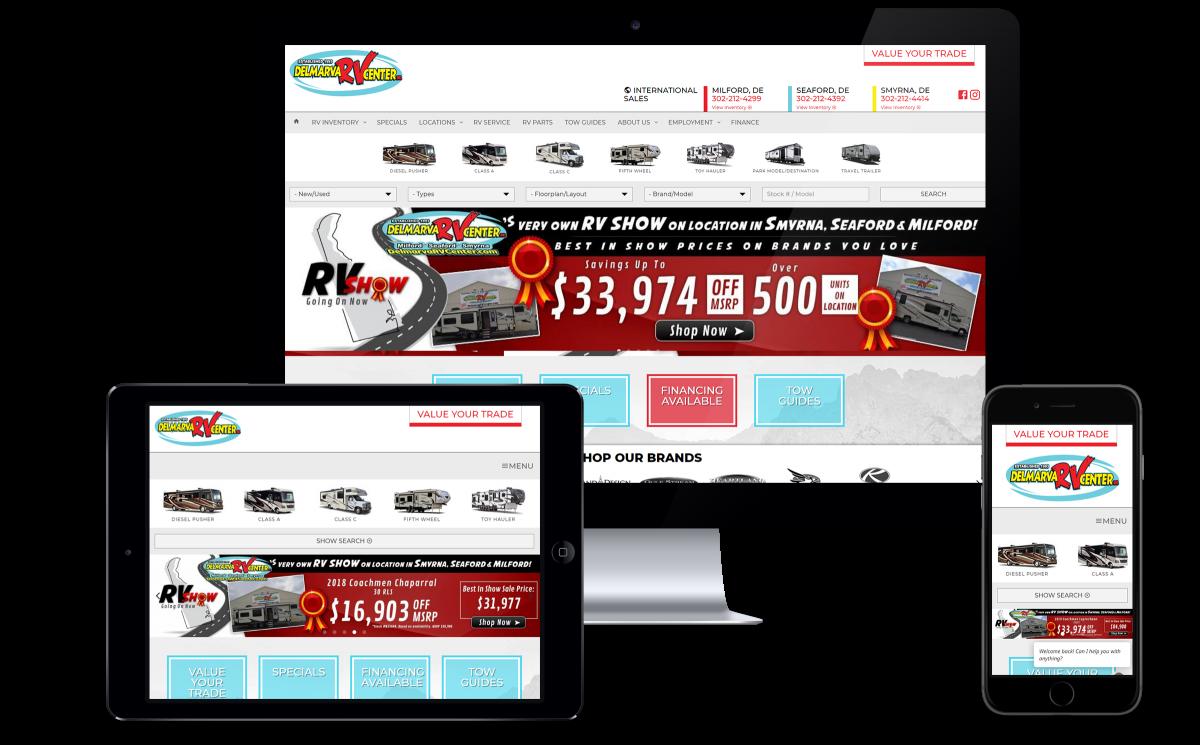 delmarva RV Center Website launch