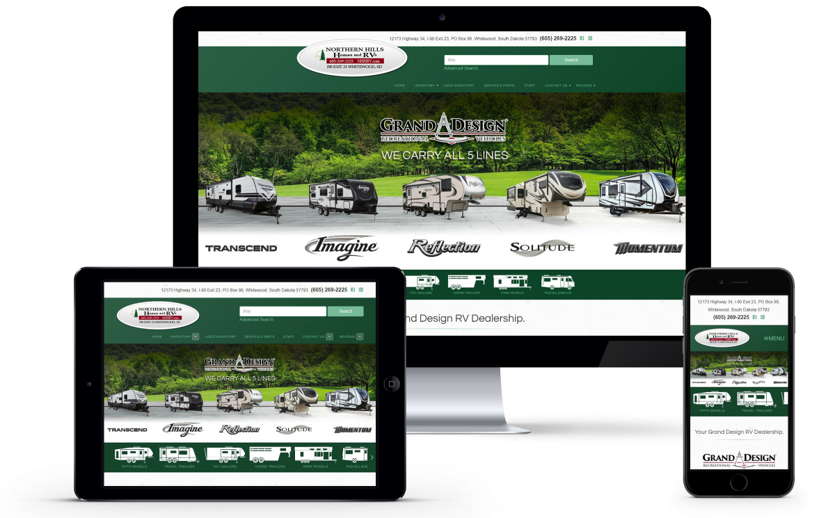 New Website Launch for Northern Hills Homes and RVs