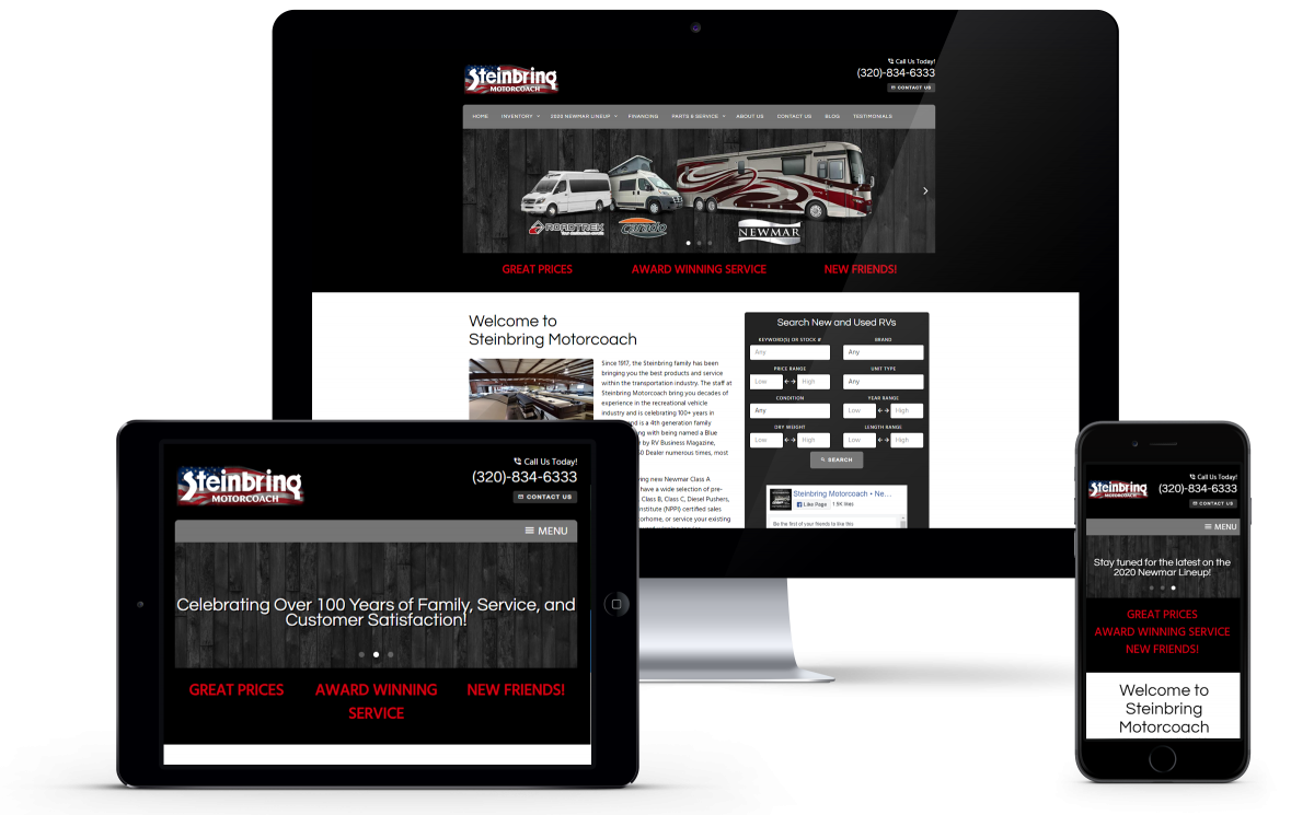 Steinbring Motorcoach Launches New Website with Custom Blog