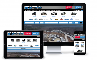 New Custom RV Web Design Focuses on User Experience