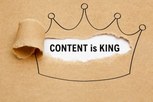Content Is King Crown Paper Concept