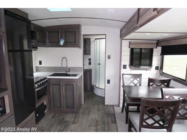 Interior RV Picture of Travel Trailer with Good Natural Lighting