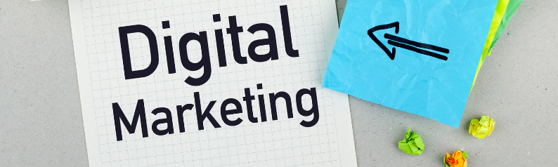 Digital Marketing with an arrow pointed to it.