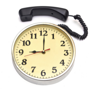 Clock with telephone receiver