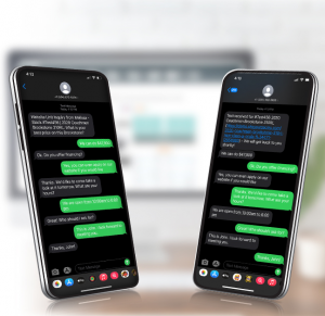 Customer service delivered via website text tool
