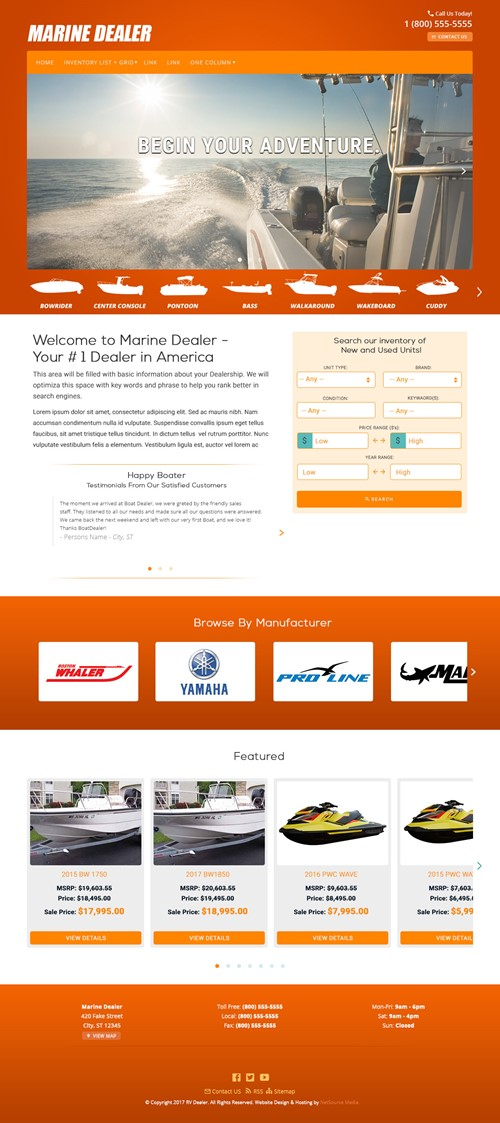 Starke Dealer Website Theme